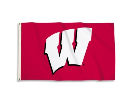 Wisconsin Badgers Outdoor Flag - Red