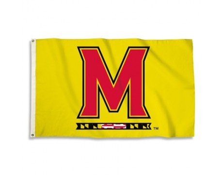 Maryland Terrapins Outdoor Flag - Yellow