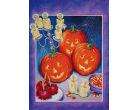 Party Pumpkins Garden Flag
