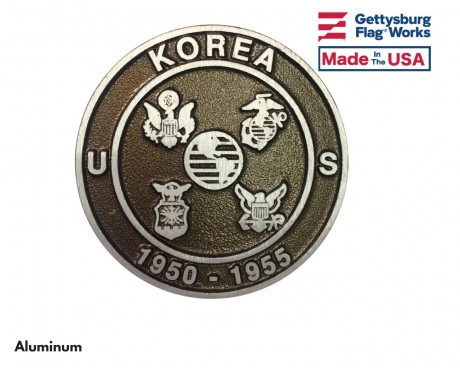 Korean War Aluminum Grave Marker