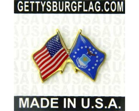 Air Force Flag Lapel Pin (Double Waving Flag w/USA)