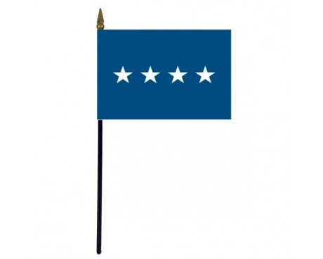 Air Force General Stick Flag - 4x6""