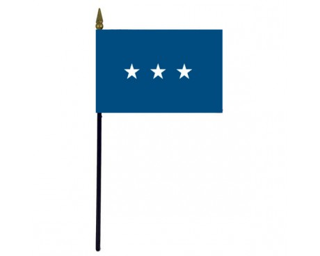 Air Force Lieutenant General Stick Flag - 4x6""
