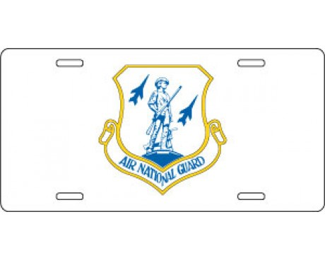 US Air National Guard License Plate