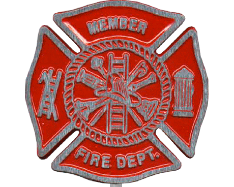 Red Aluminum Fire Department Grave Marker