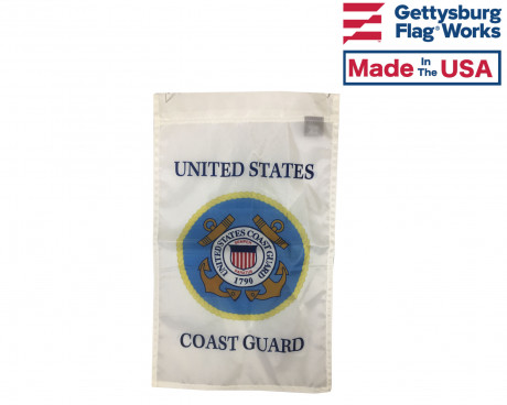 "12x18"" Coast Guard Garden Flag"