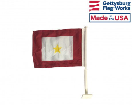 Gold Star Mother Car Flag - 11x15""