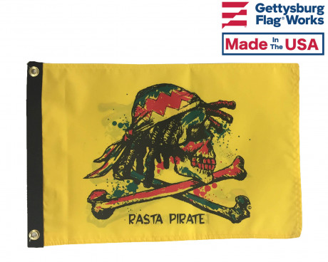 Rasta Pirate Flag