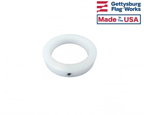 White NeverFurl Collar Ring 1""