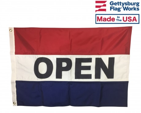 OPEN Flag, Red, White & Blue (Horizontal)