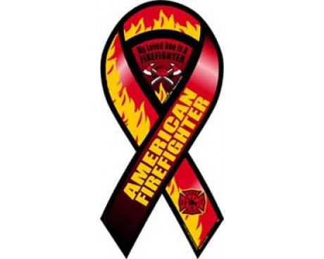 American Firefighter Ribbon Magnet