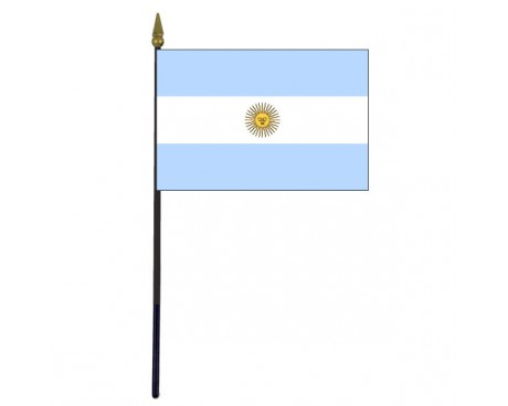 Argentina Stick Flag (with seal) - 4x6""