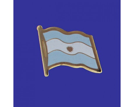 Argentina (seal design) Lapel Pin (Single Waving Flag)