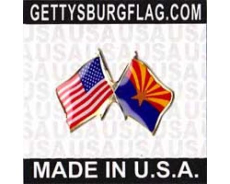 Arizona State Flag Lapel Pin (with US Flag)