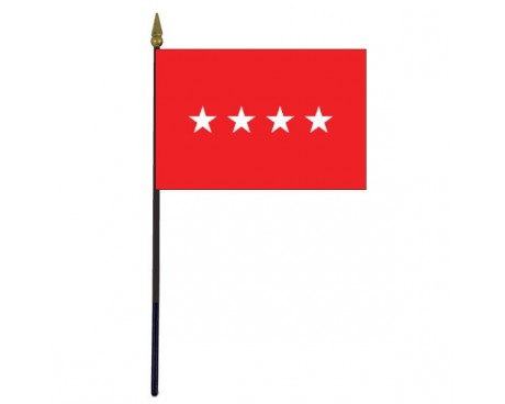 Army General Stick Flag - 4x6""