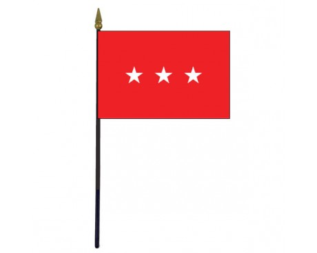 Army Lieutenant General Stick Flag - 4x6""