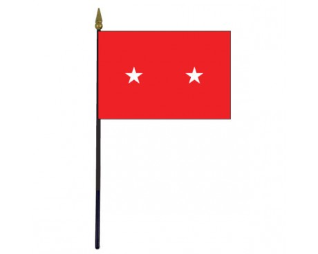 Army Major General Stick Flag - 4x6""