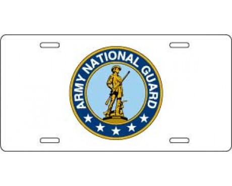 US Army National Guard License Plate