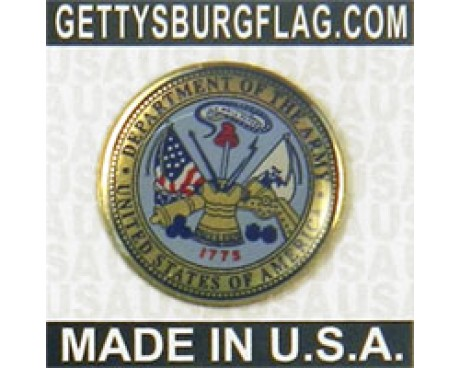 Army Seal Lapel Pin (Round Emblem Design)