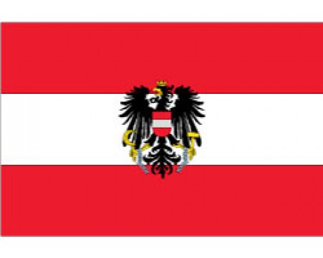Austria Flag (With Eagle)