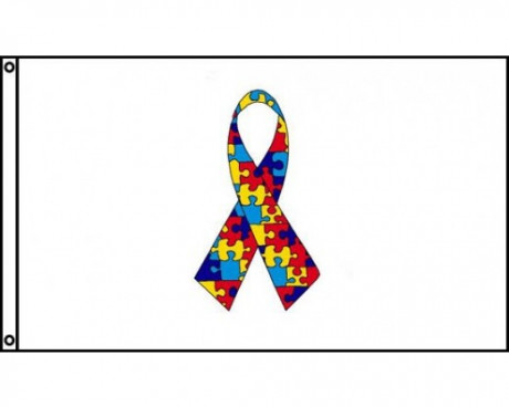 Autism Ribbon Flag