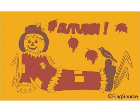 Autumn Scarecrow Flag - 3x5'