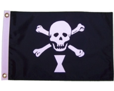 Emanuel Wynne Pirate Flag - 12x18""