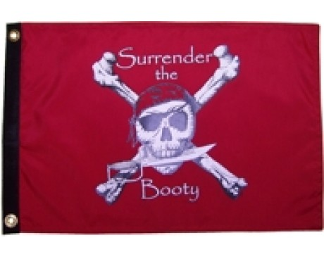 Surrender The Booty Flag - Red