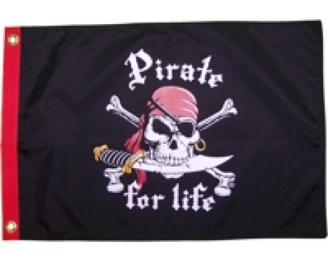 Pirate For Life Flag