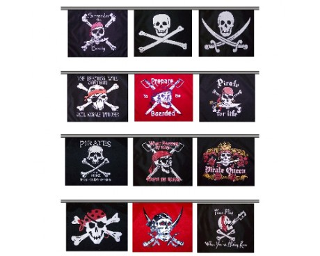Pirate Flag String (13 Flags)