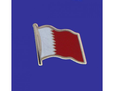 Bahrain Lapel Pin (Single Waving Flag)