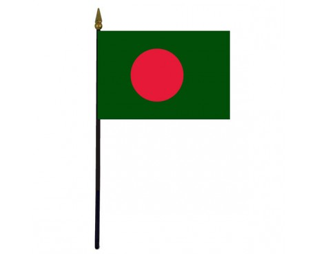 Bangladesh Stick Flag - 4x6""