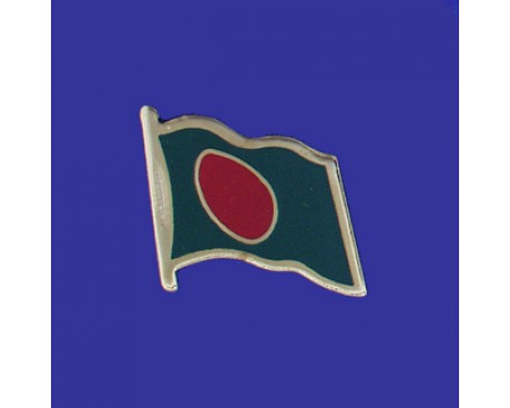 Bangladesh Lapel Pin (Single Waving Flag)