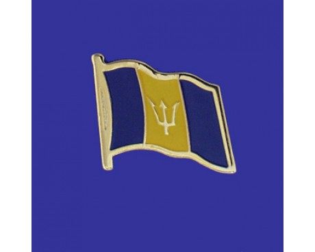 Barbados Lapel Pin (Single Waving Flag)