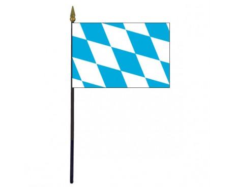 """Bavaria Stick Flag - 4x6"""""""