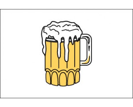 """Beer Time Flag - 12x18"""""""