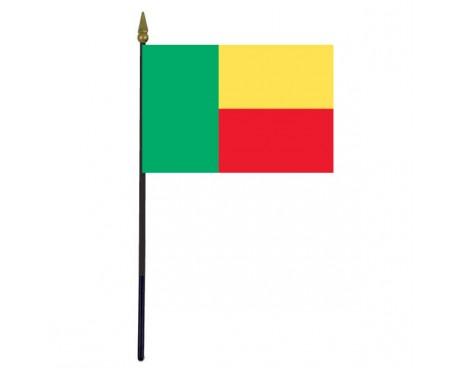 "Benin Stick Flag - 4x6"""