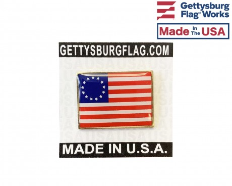 Betsy Ross Lapel Pin (Single Rectangle Flag)