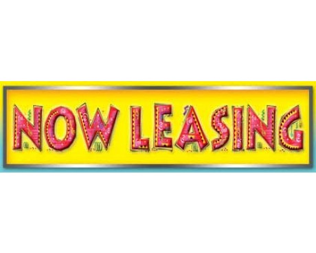 Now Leasing Banner - Fancy Letters