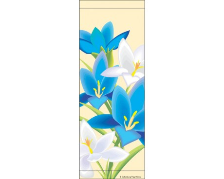 Blue/White Crocus Avenue Banner