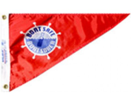 """Boat Safe & Sober Triangle Pennant - 10x15"""""""
