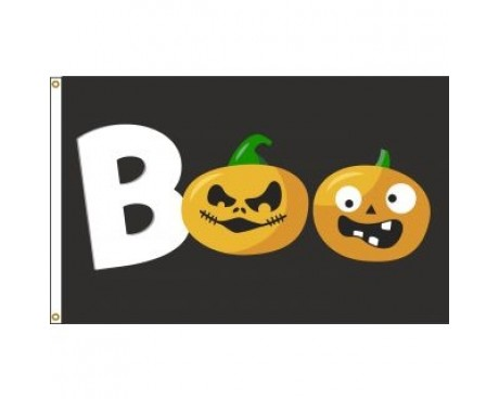BOO / Pumpkin Flag