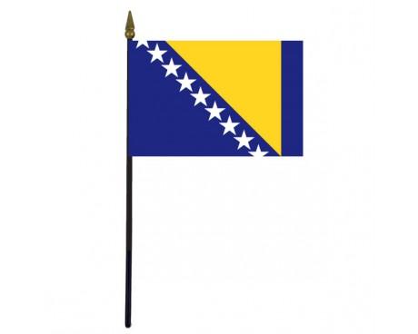 "Bosnia-Herzegovina Stick Flag - 4x6"""