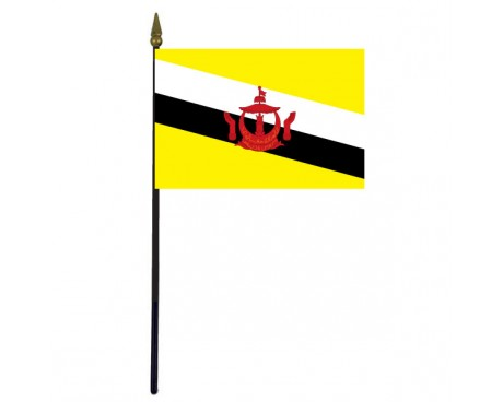 Brunei Stick Flag - 4x6""