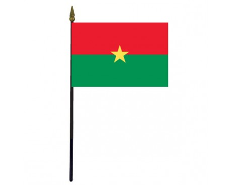 Burkina Stick Flag - 4x6""