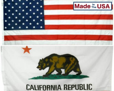 California & Battle-Tough® American Flag Combo Pack