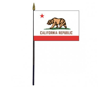 California State Stick Flag - 4x6""