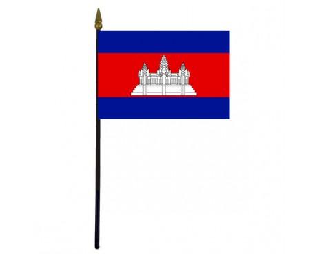 "Cambodia Stick Flag - 4x6"""
