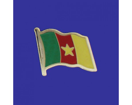 Cameroon Lapel Pin (Single Waving Flag)