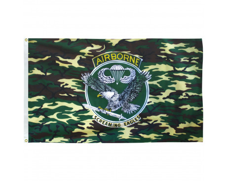Camouflage Airborne Flag - 3x5'